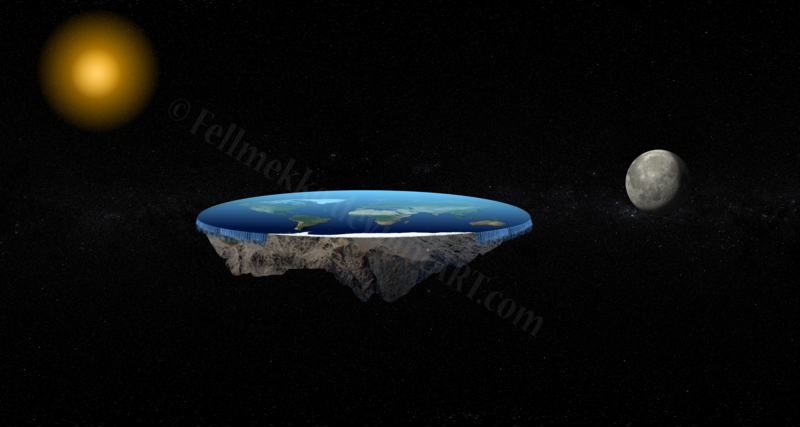 cc Non Comercial Reuse: flat_earth_world_by_fellmekke-d75rmxh see: fellmekke.deviantart.com